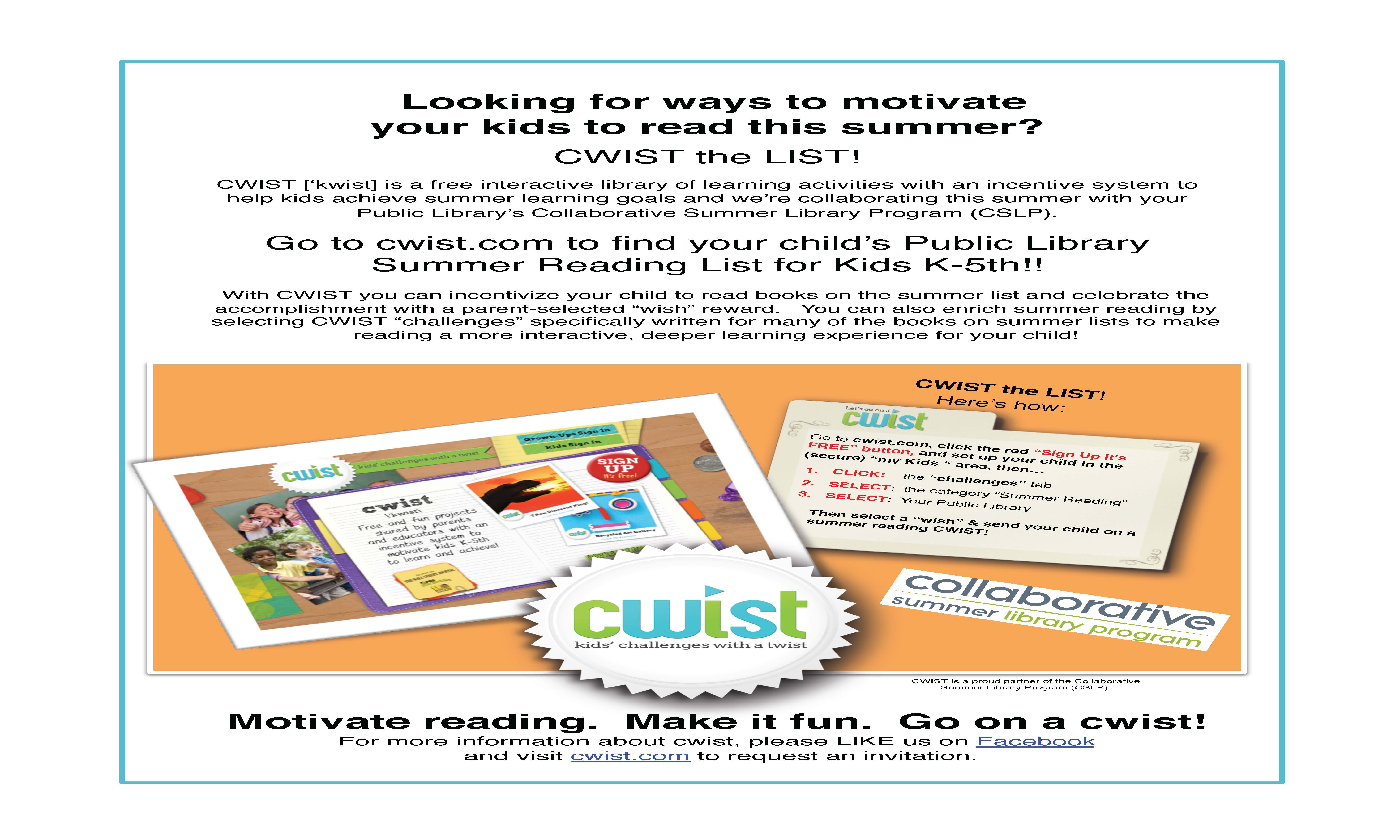 CWIST Reading Flyer CSLP
