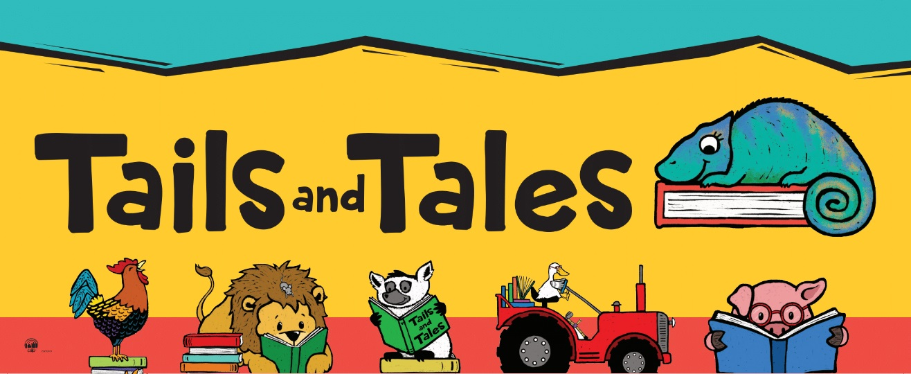 Tails and Tales Small Vinyl Banner – Collaborative Summer Library Program